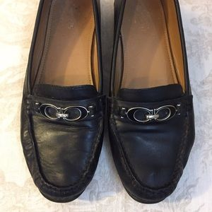 Coach Leather Fortunata Black Loafers